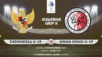 Kualifikasi Piala AFC U-19: Indonesia vs Hong Kong. (Bola.com/Dody Iryawan)