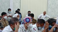 Dokter AW yang diduga melakukan malpraktik di RS Multazam Gorontalo saat meberikan keterangan (Arfandi Ibrahim/Liputan6.com)