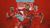 Liverpool - Memphis Depay, Ryan Gravenberch, Sven Botman (Bola.com/Adreanus Titus)