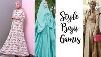Ingin tampil stylish dengan baju gamis? Yuk, simak macam-macam style mengenakan baju gamis kombinasi dan hijab segi empat!