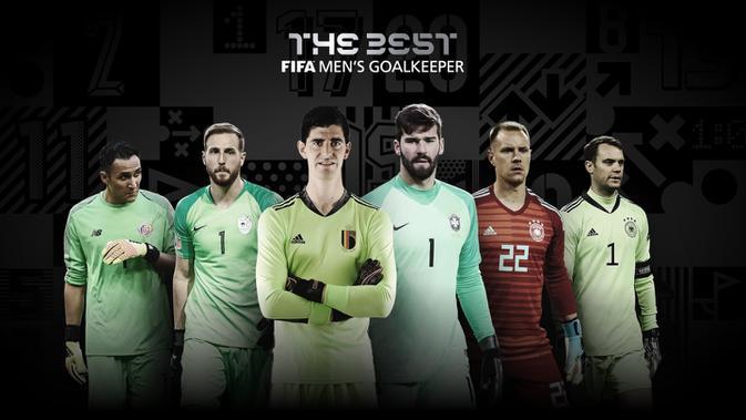 Nominasi pemenang kiper terbaik putra FIFA The Best Award 2020. (Dok FIFA)