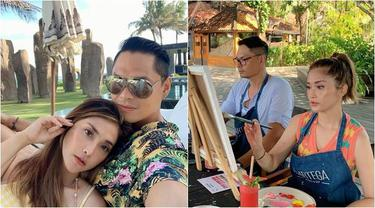 7 Momen Mesra Eva Anindita Liburan Bersama Suami Ke Bali