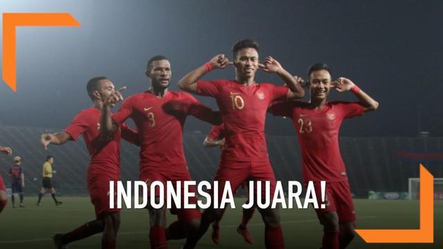 Timnas Indonesia U-22 sukses meraih gelar juara Piala AFF U-22 2019 setelah meraih kemenangan 2-1 atas Thailand di pertandingan final yang digelar di Olympic Stadium, Phnom Penh, Kamboja.