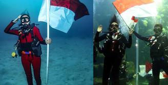 Kibarkan Bendera dalam air