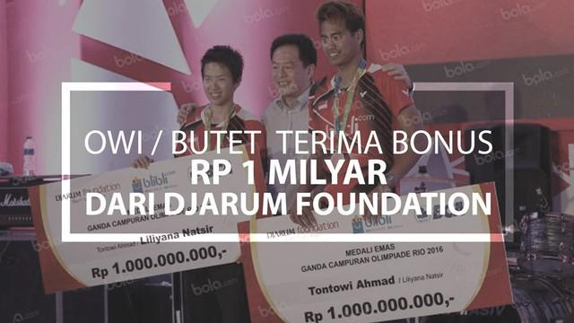 Tontowi / Liliyana Terima Bonus Rp 1 Milyar dari Djarum Foundation