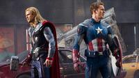 Thor dan Captain America dalam The Avengers. (Marvel Studios)
