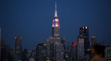Gedung pencakar langit Empire State di New York
