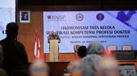 Acara Harmonisasi Tata Kelola Sertifikasi Kompetensi Profesi Dokter, Lesson Learned: BNSP, di Jakarta, Jum'at (29//11).