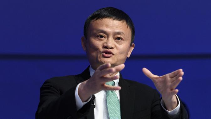 Jack Ma dalam pertemuan tahunan World Economic Forum yang digelar di Davos, Swiss (18/1/2017) (AP)