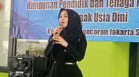 Ade Fitrie Kirana saat Halal Bihalal bersama Himpunan Pendidik dan Tenaga Kependidikan Anak Usia Dini Indonesia (Himpaudi) dan Para Pendidik PAUD se-Jakarta Selatan. (Istimewa)