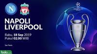 Liga Champions - Napoli Vs Liverpool (Bola.com/Adreanus Titus)