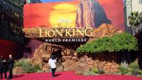 Suasana sebelum premier film The Lion King di Dolby Theatre, Hollywood, California (9/7/2019). (AFP/Kevin Winter)