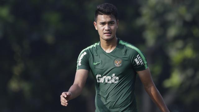 Pemain Timnas Indonesia U-22, Muhammad Rafli. (Bola.com/Vitalis Yogi Trisna)