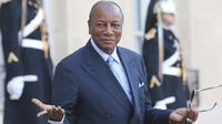 Presiden Guinea Alpha Conde. (AP Photo / Jacques Brinon)