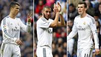 Ronaldo, Benzema dan Bale (Marca.com)