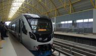 LRT Palembang menjadi kereta api cepat pertama di Indonesia (Liputan6.com / Nefri Inge)