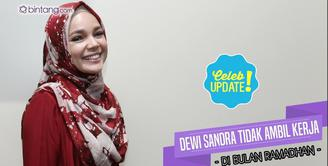 Persiapan Dewi Sandra untuk sambut bulan suci Ramadhan.