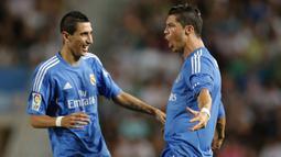 Angel di Maria merupakan pemain yang pernah bereragam Real Madrid bersama Cristiano Ronaldo sebelum pindah ke PSG pada 2015 silam. Dirinya juga merupakan partner dari Lionel Messi ketika membela Timnas Argentina dan di PSG saat ini. (Foto: AFP/Jose Jordan)