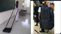 6 Model Tas Sekolah Ini Nyeleneh Banget, Bikin Tepuk Jidat (sumber: Instagram.com/sukijan.id dan Twitter.com/lukmantrudama)