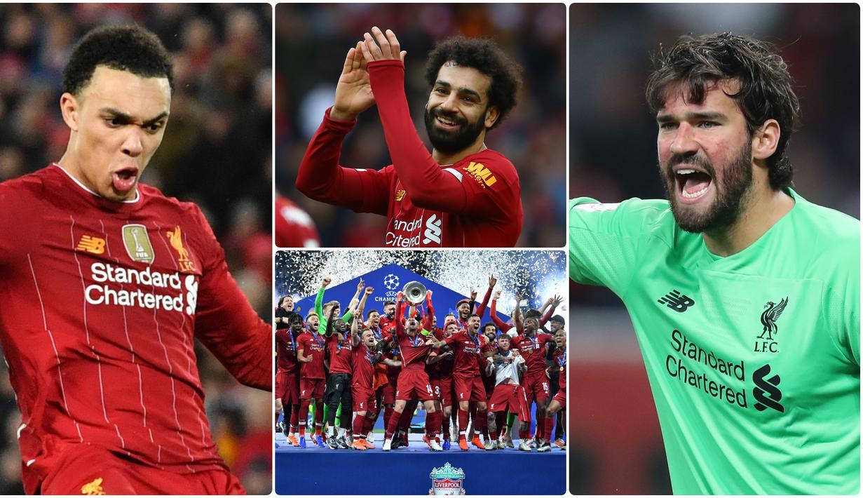 Meski awalnya menjadi tim yang tidak terlalu diunggulkan, Liverpool secara luar biasa mampu meraih gelar juara Liga Champions 2018/2019. Berikut 6 bintang Liverpool saat meraih trofi juara Liga Champions 2018/2019. (kolase foto AFP)