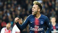 4. Neymar Jr (Paris Saint-Germain) - 5 gol dan 2 assist (AFP/Anne-Christine Poujoulat)