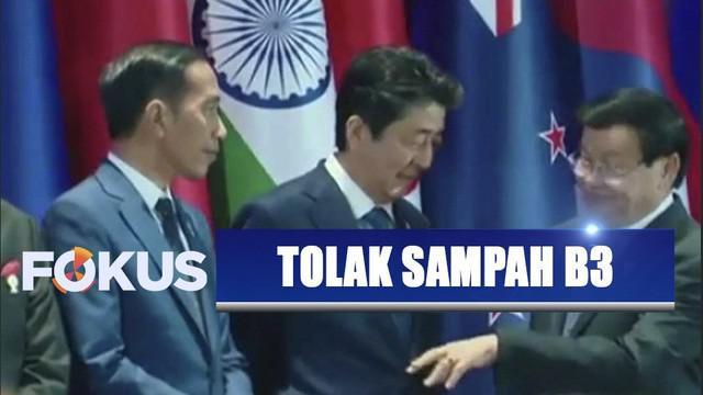 Presiden Jokowi mengusulkan kerja sama penanganan limbah B3 dan sampah plastik.