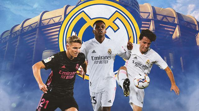Real Madrid - Martin Odegaard, Rodrygo, Alvaro Odriozola (Bola.com/Adreanus Titus)