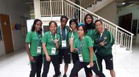 Para pemain Timnas Putri Indonesia di Asian Games 2018 (Foto: Luthfie Febriyanto/Liputan6.com)