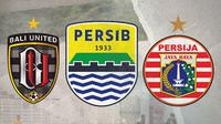 Calon Juara Liga 1: Bali United, Persib Bandung dan Persija Jakarta. (Bola.com/Dody Iryawan)