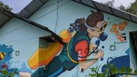 Ada sekitar 20 rumah menjadi tempat wisata karena konsep muralnya dengan dicat warna-warni tiga dimensi di Kelurahan Dembe 1 Kecamatan Kota Barat, Kota Gorontalo. (Dok. Kementerian PUPR)