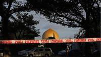 Masjid Al Noor Selandia Baru dijaga ketat kepolisian setempat (AP Photo)