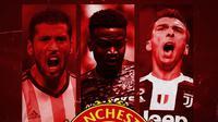 Manchester United - Ezequiel Garay, Wilfrid Kaptoum, Mario Mandzukic (Bola.com/Adreanus Titus)