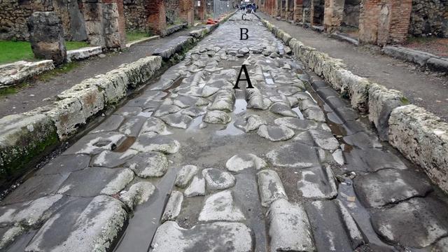 Jalan di Pompeii