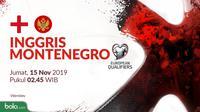 Kualifikasi Piala Eropa 2020 - Inggris Vs Montenegro (Bola.com/Adreanus Titus)
