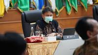 Menteri Kesehatan RI Budi Gunadi Sadikin hadiri rapat koordinasi perekonomian terkait perkembangan PPKM mikro di 123 kabupaten/kota pada 7 provinsi pada 16 Februari 2021. (Dok Kementerian Kesehatan RI)