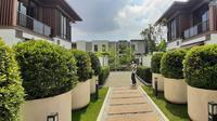 Tampak depan rumah bergaya Jepang di Lavon 3, Tangerang. (Liputan6.om/Pramita Tristiawati)