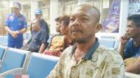 Karjono, salah satu penumpang KM Santika Nusantara (Foto:Liputan6.com/Dian Kurniawan)