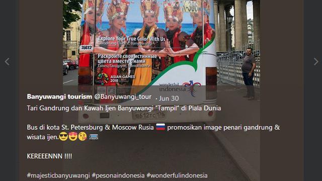 Ketika Tari Gandrung Dan Kawah Ijen Mewarnai Piala Dunia 2018