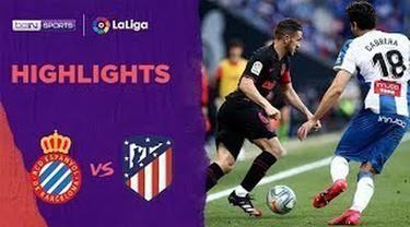 Berita Video Highlights La Liga, Atletico Vs Espanyol Berakhir Imbang 1-1