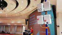 Acara uji coba jaringan 5G Indosat Ooredoo (Foto: Andina Librianty/Liputan6.com)