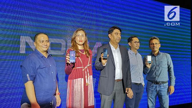 HMD Global resmi meluncurkan smartphone terbarunya, Nokia 4.2, di Jakarta. (Liputan6.com/ Andina Librianty)