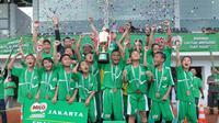 SD Al Jannah keluar sebagai juara Milo Football Championship regional Jakarta (istimewa)