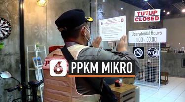 Pngetatan mobilitas warga DKI dalam PPKM Mikro terus dilakukan petugas untuk menekan angka penyebaran Covid-19. 5 kafe serta beberapa warga mendapat sanksi sosial karena melanggar ketentuan PPKM.