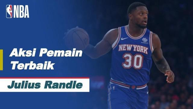 Aksi Julius Randle Saat New York Knicks Kalahkan Cleveland Cavaliers di NBA