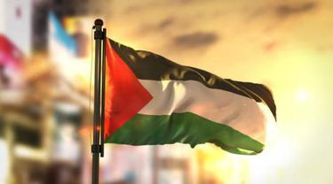 Ilustrasi bendera Palestina.