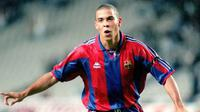 Mantan pemain Real Madrid, Ivan Campo, menyebut sosok Ronaldo Nazario menjadi salah satu pemain yang paling ditakutinya. (AFP/Andreu Dalmau)