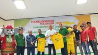 PT Semen Baturaja (Persero) Tbk resmi menjadi sponsor Sriwijaya FC jelang kompetisi Liga 2 (Liputan6.com / Nefri Inge)