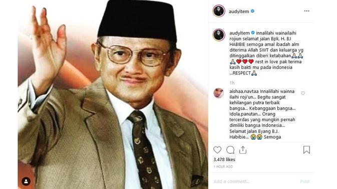 Audy Item (Sumber: Instagram/audyitem)