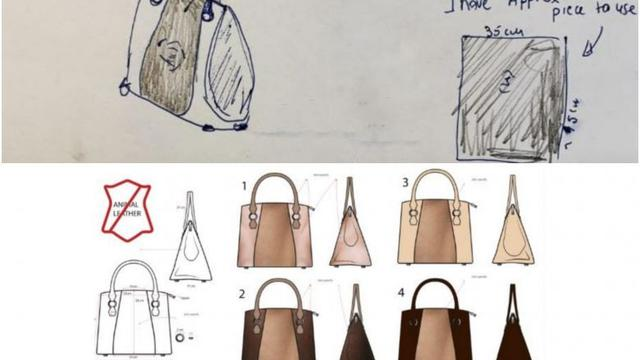 Ilustrasi desain Joan untuk tas tangannya (Screngrab dari sewport.com)