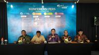 Konferensi pers BPJamsostek di Surabaya, 10 Maret 2020. (Foto: Liputan6.com/Dian Kurniawan)
